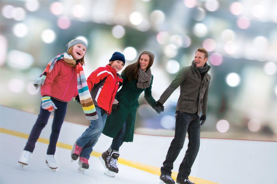 ice skating, rink