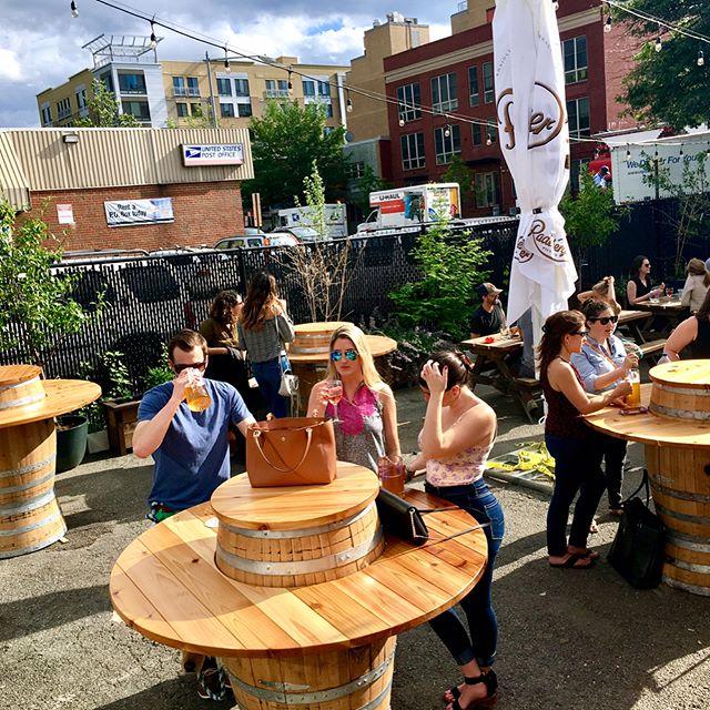 people sitting beer garden
