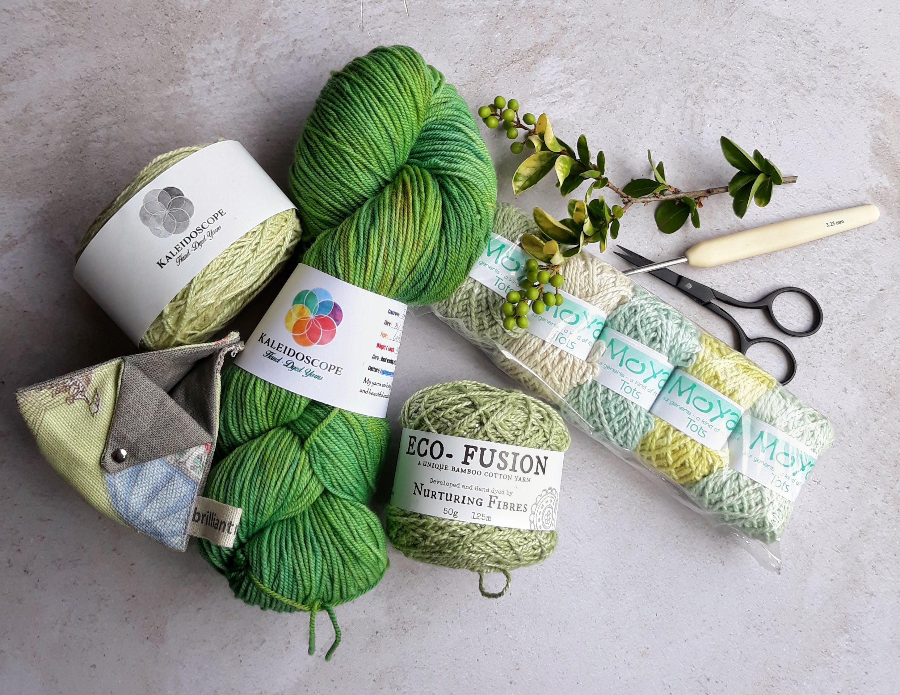 yarn, crochet hook