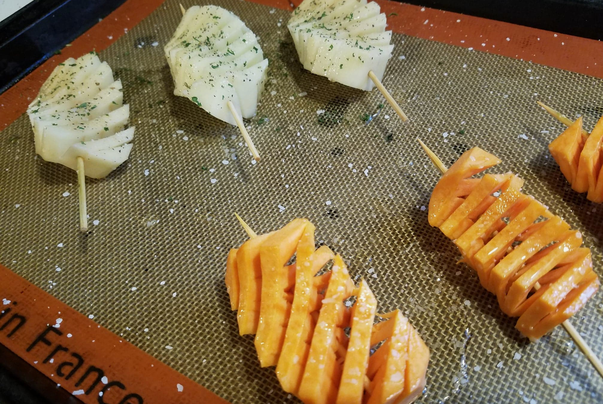 potatoes, baking sheet