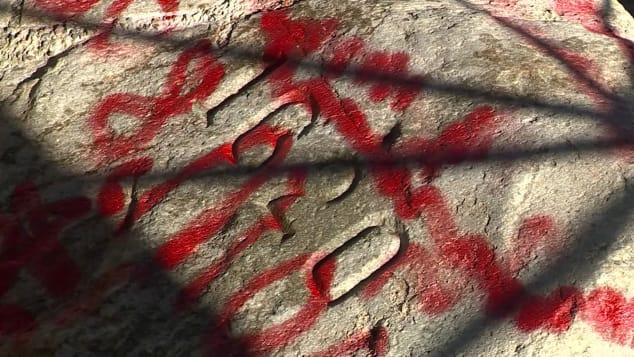 Plymouth Rock, graffiti