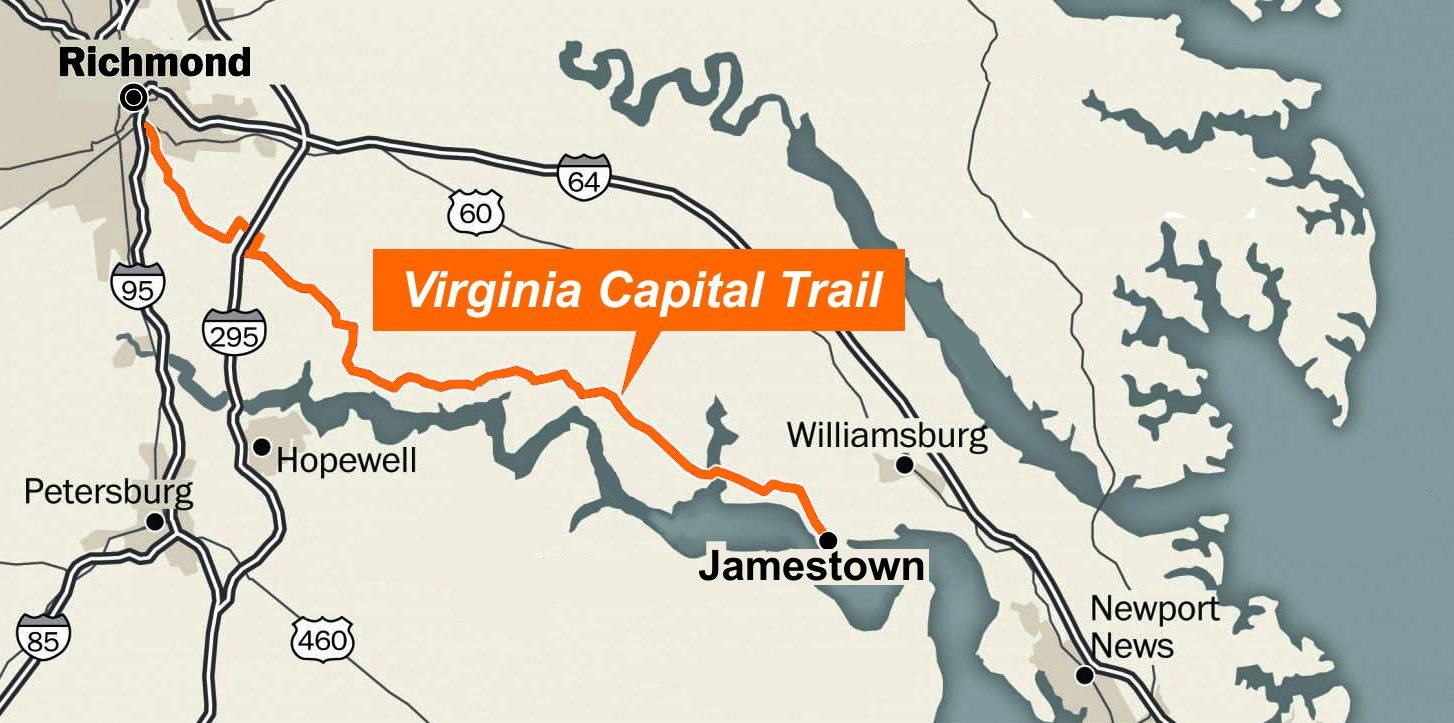 map of capital trail