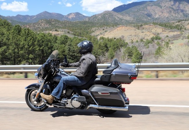 motorycle rider in colorado