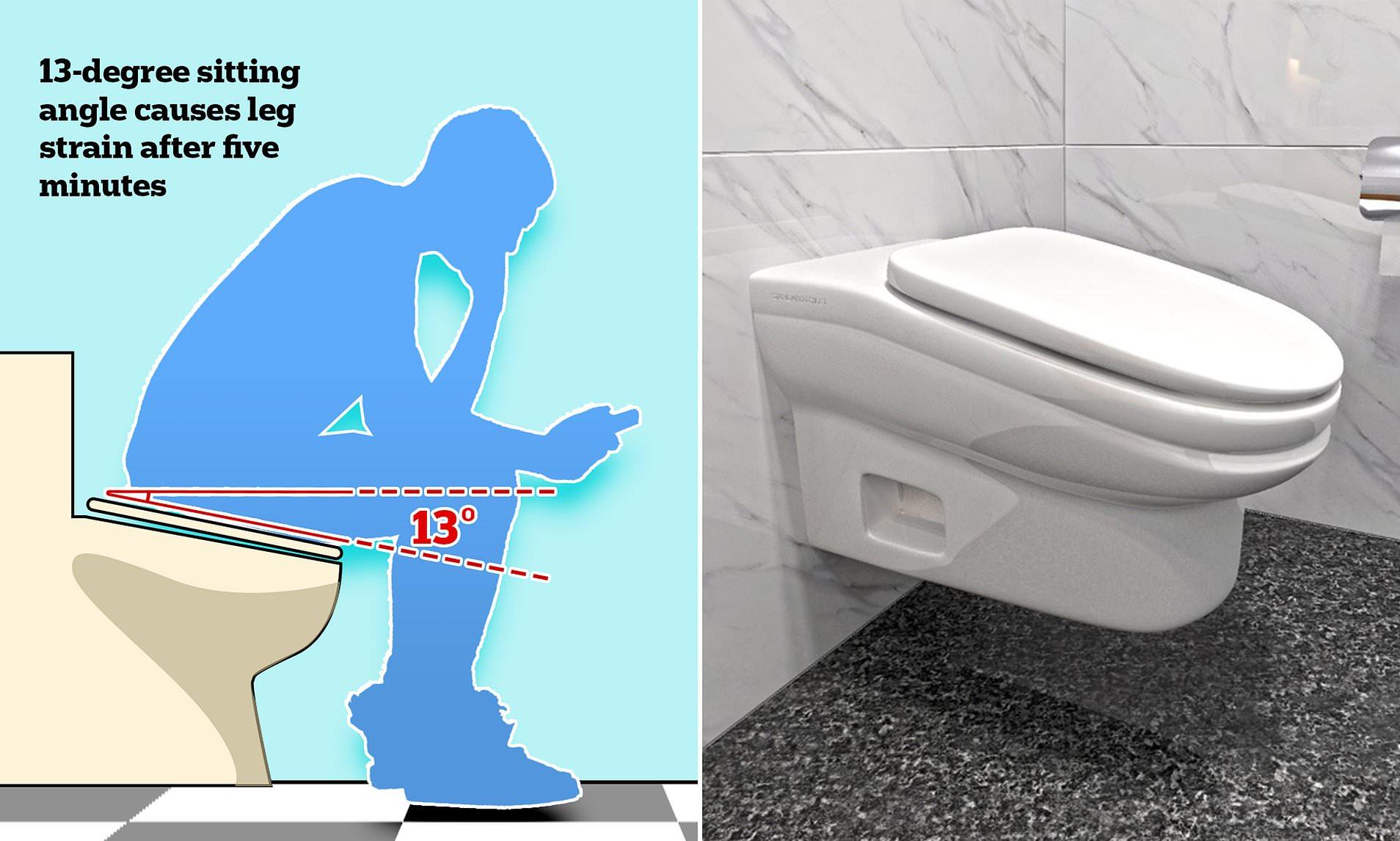 slanted toilet