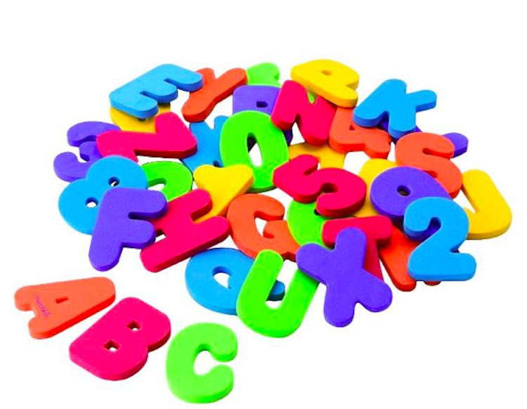 foam bath letters