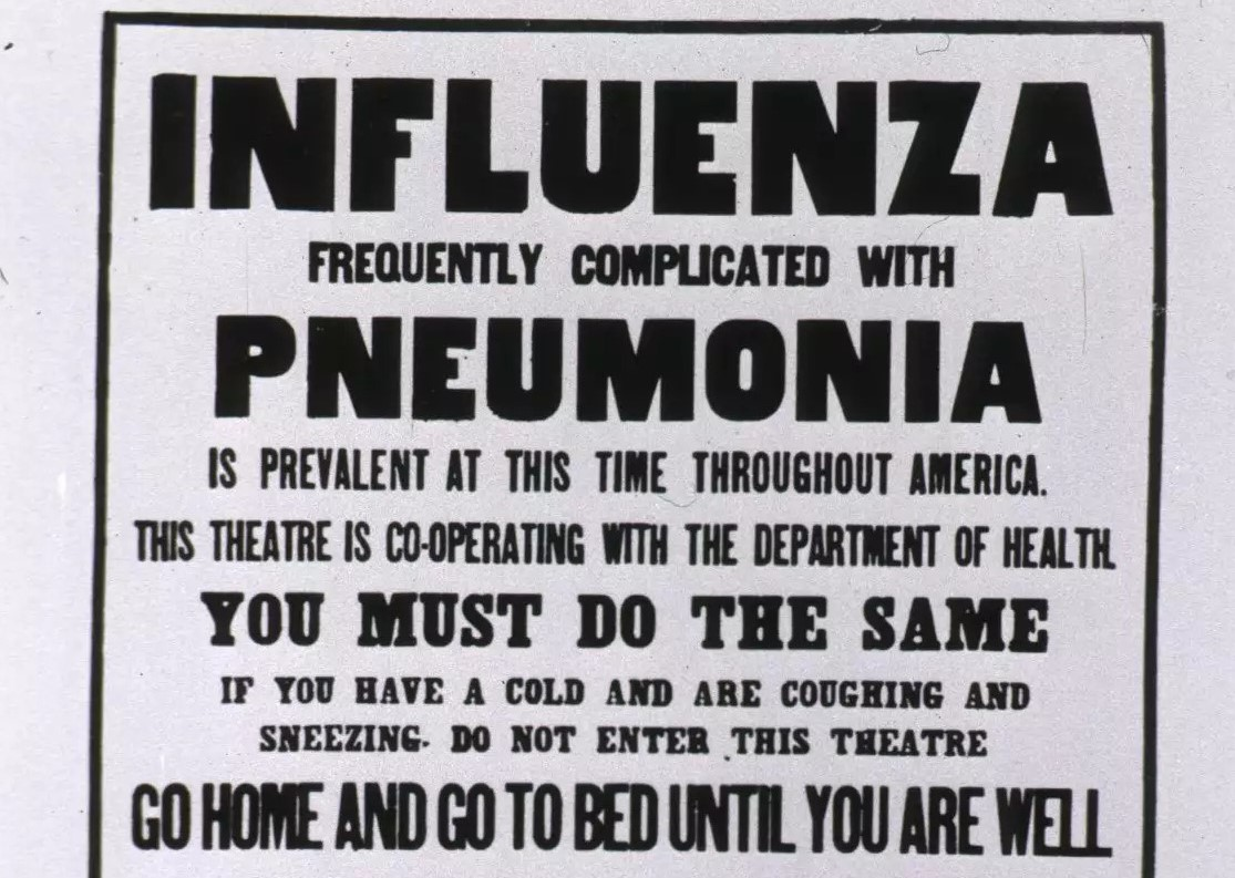 1918 Dept of Health Influenza Public Notice Stay at Home