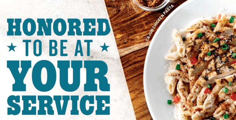 Chili's Restaurant Veterans Day Meal Deals Monday 11 2019
