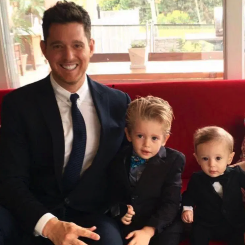 Michael Buble and sons