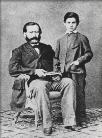 Mark Twain and his father