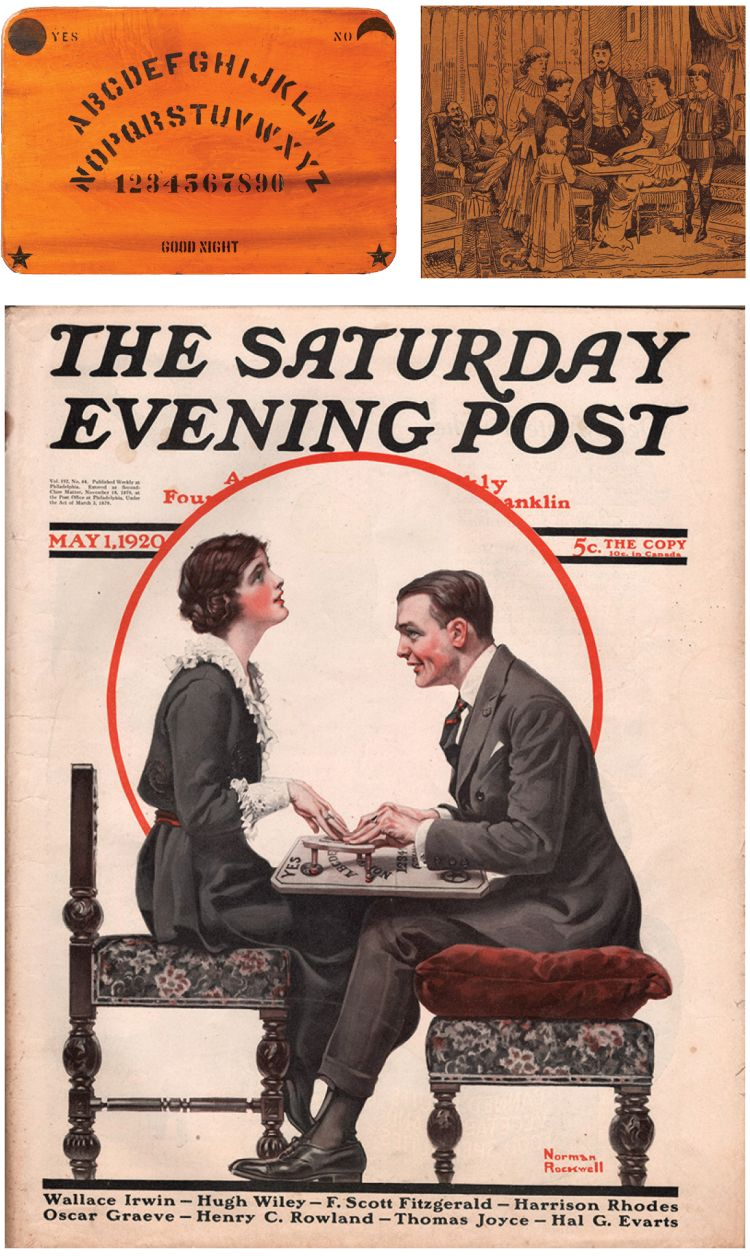 Saturday Evening Post cover of a couple with a Ouija board