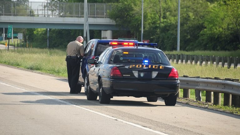 traffic stop, police