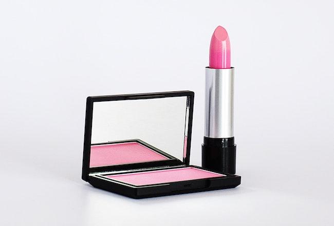 Lipstick and blush