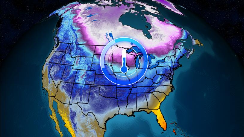 weather map, Arctic blast