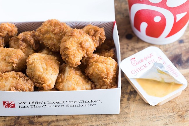 Chick-fil-A nuggets and sauces