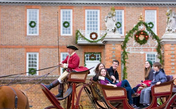 Horse Drawn Carriage Ride Colonial Williamsburg Virginia