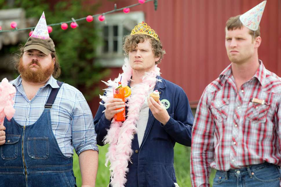 Letterkenny characters in birthday hats