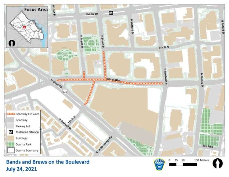 wilson blvd road closures map