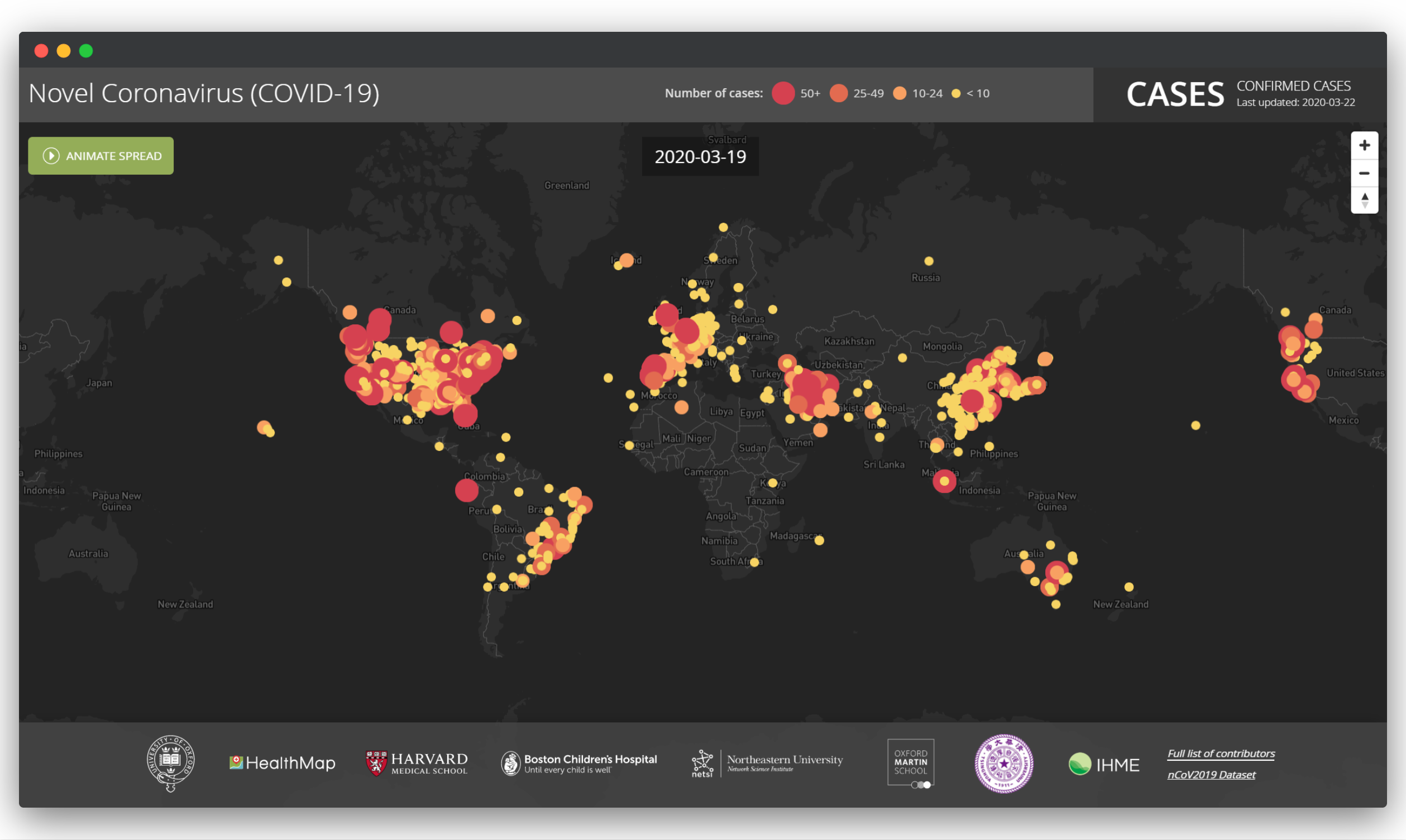 Coronavirus Data Visualization Animated Map (Health Map)