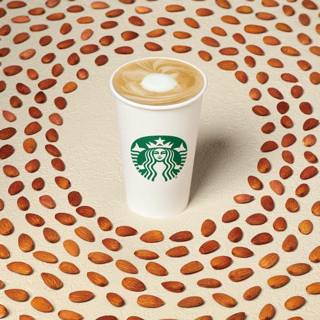 Starbucks honey almond milk latte