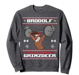 sweater reindeer lifting