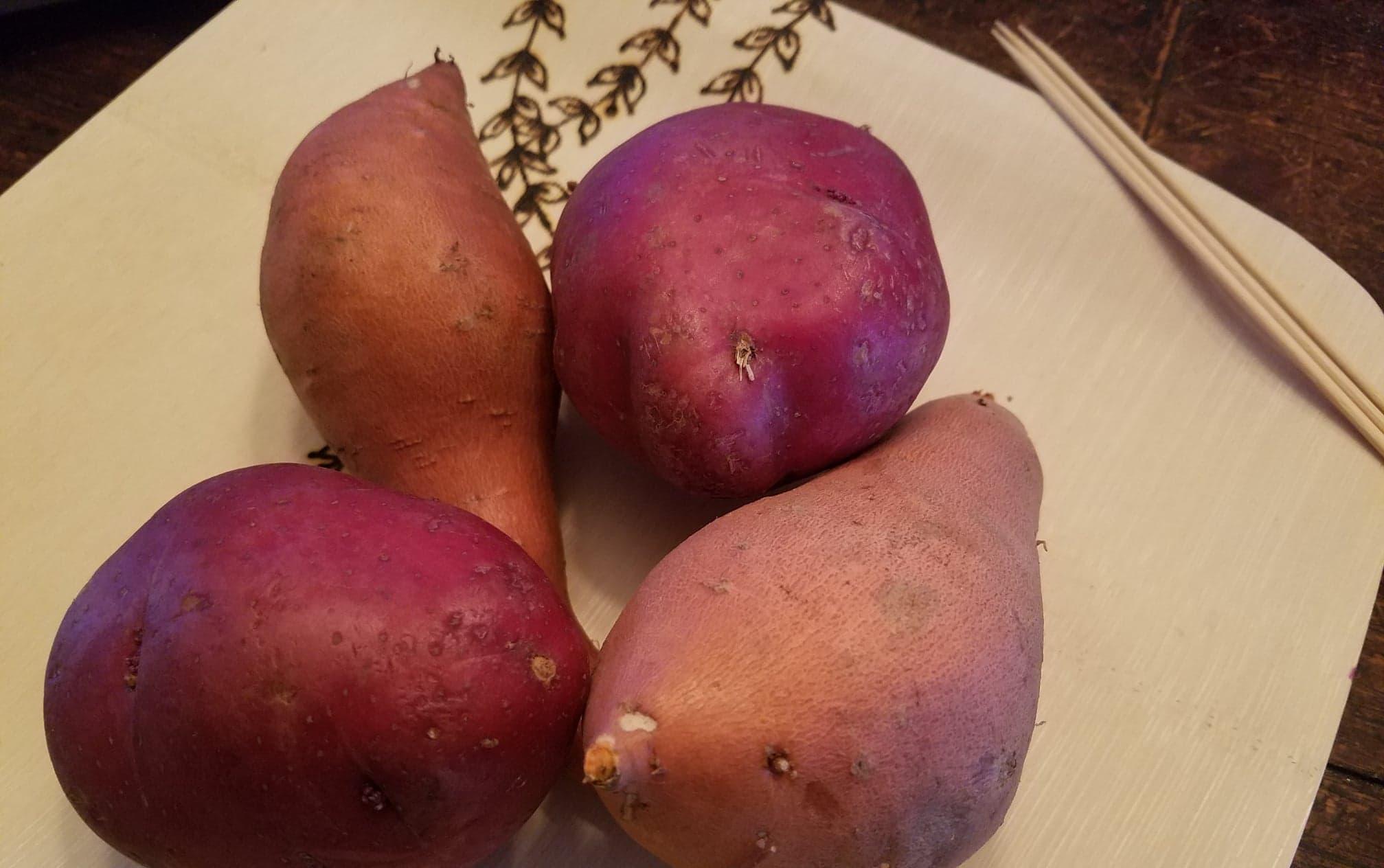potatoes, sweet potatoes