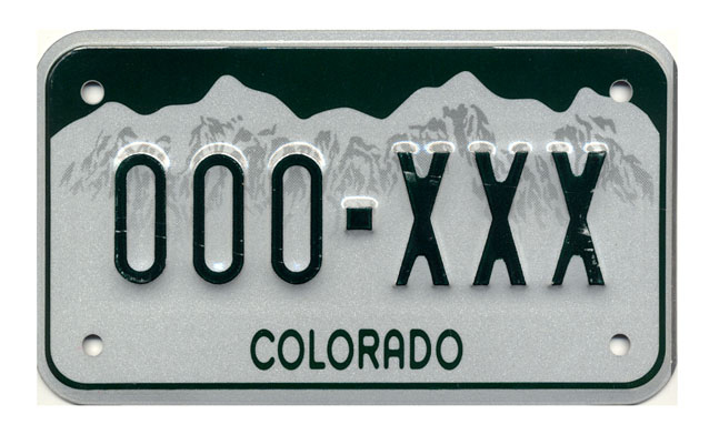 current colorado license plate