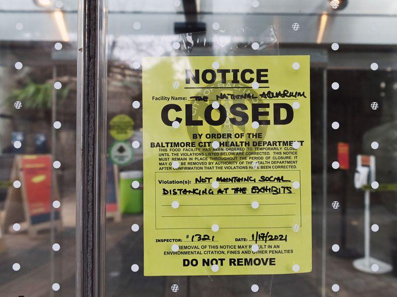 Health department closure notice