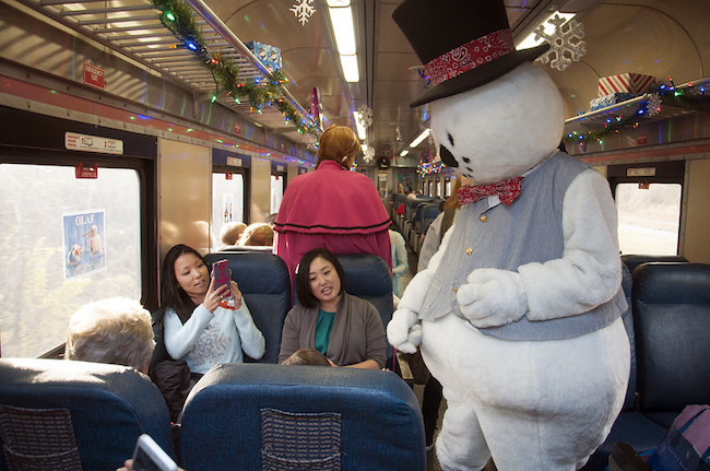 Train ride with Frosty