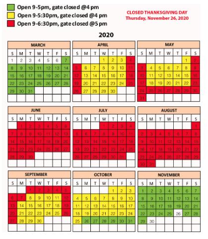 safari park calendar