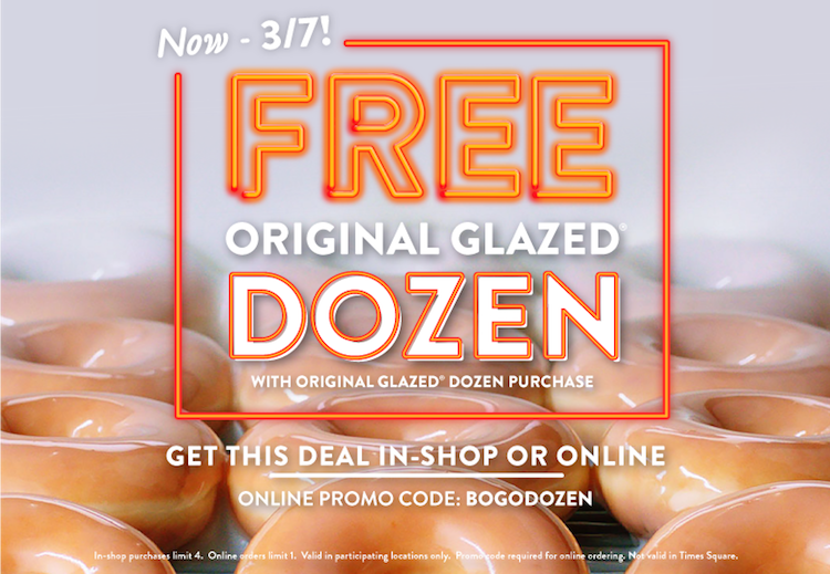 Krispy Kreme, BOGODOZEN, Original Glazed Doughnut