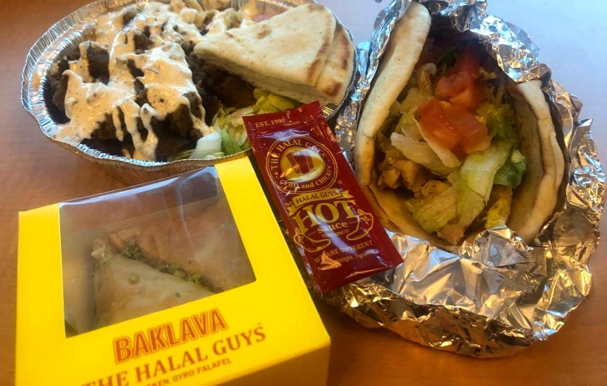 The Halal Guys, bowl, baklava
