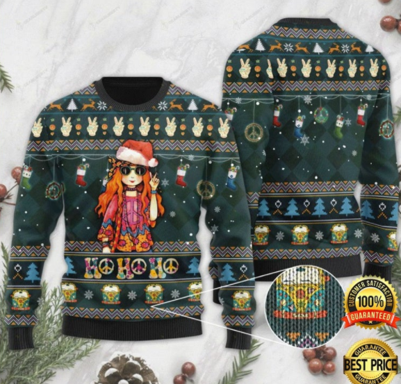 sweater hippie girl