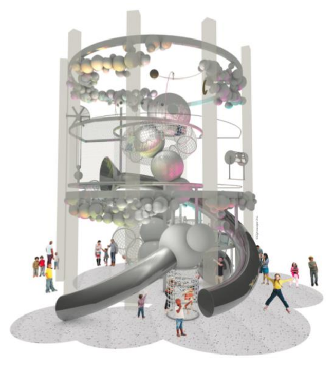Rendering of the Dream Machine at the National Children's Museum