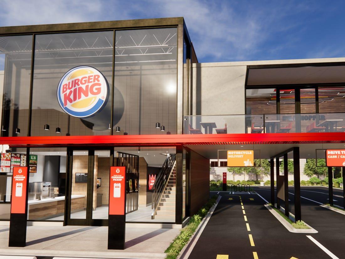 Drive Thru Lanes at Burger King