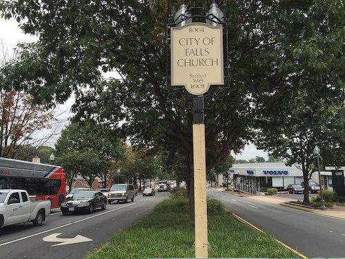 entering Falls Church, Virginia