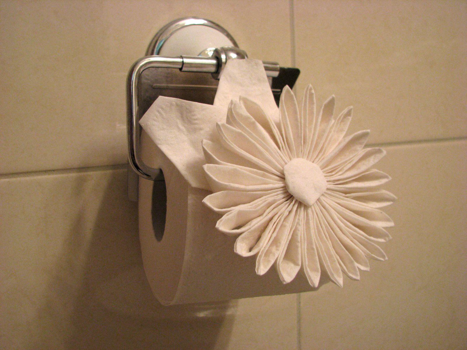 toilet paper flower