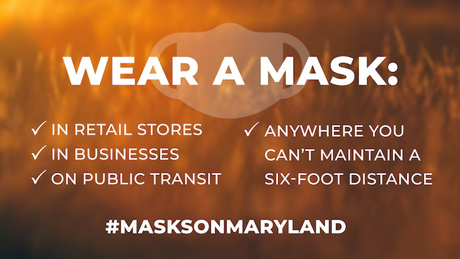 masks on Maryland