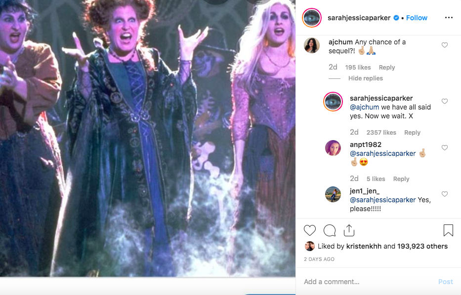 Sarah Jessica Parkers Instagram