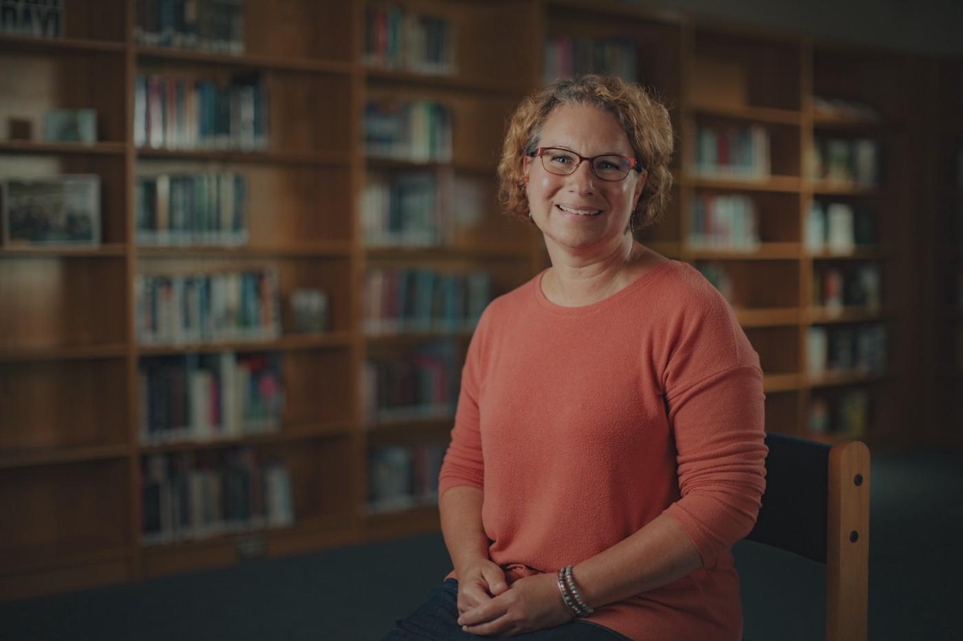 Blacksburg Middle School Librarian Kelly Passek