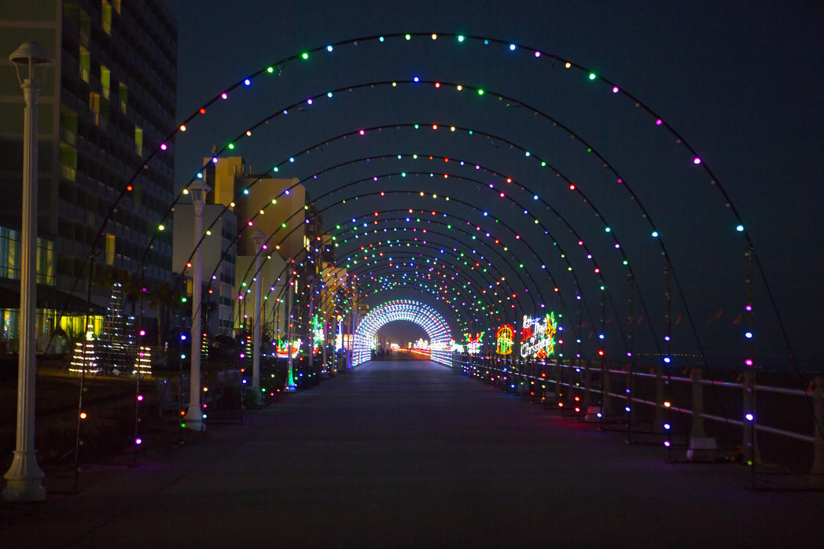 Holiday Lights on Virginia Beach Oceanftront