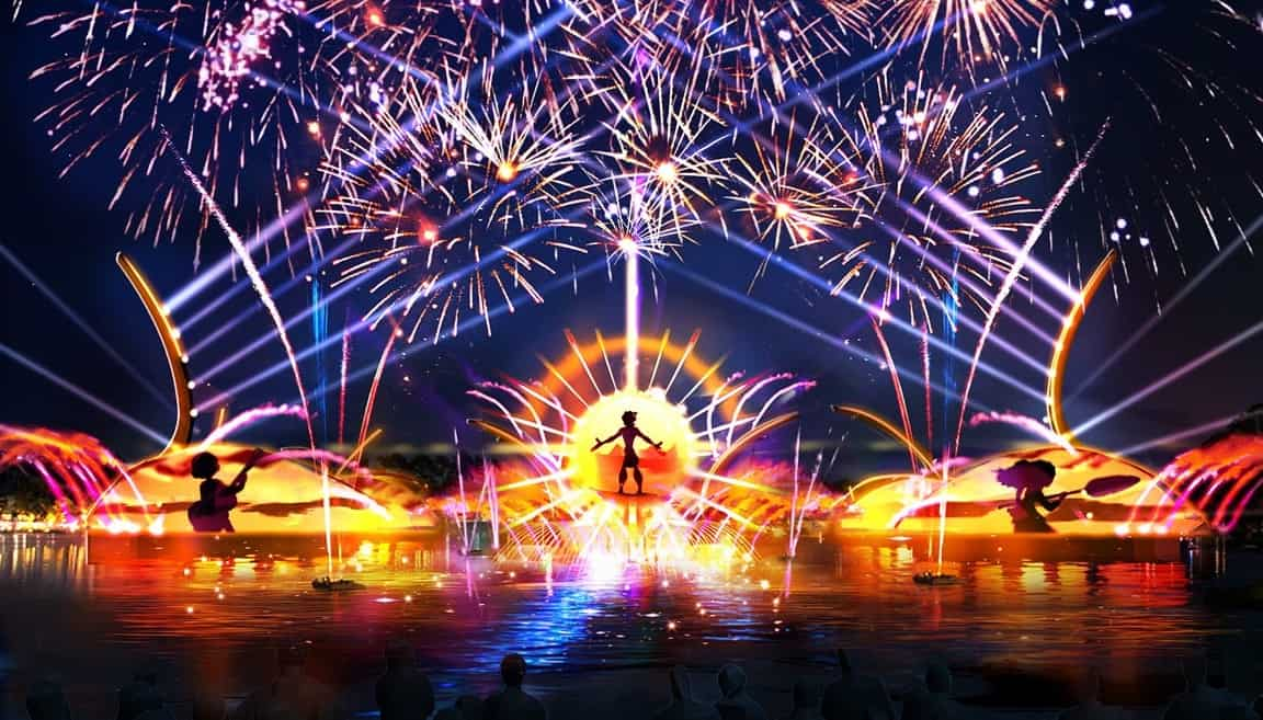 nightime show at epcot