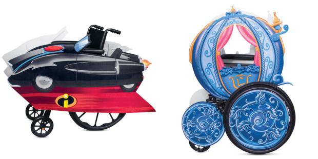 Incredibles and Cinderella wheelchair cover