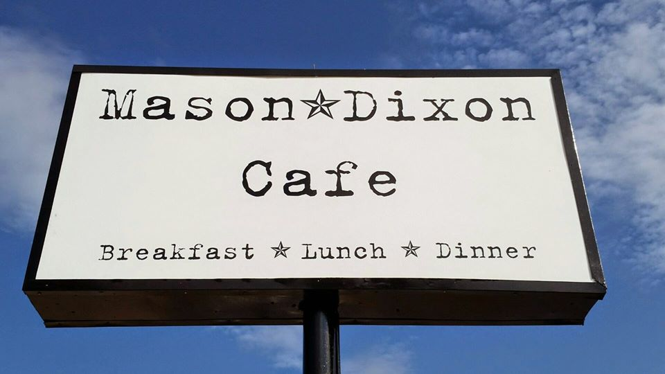 Mason-Dixon Cafe, sign