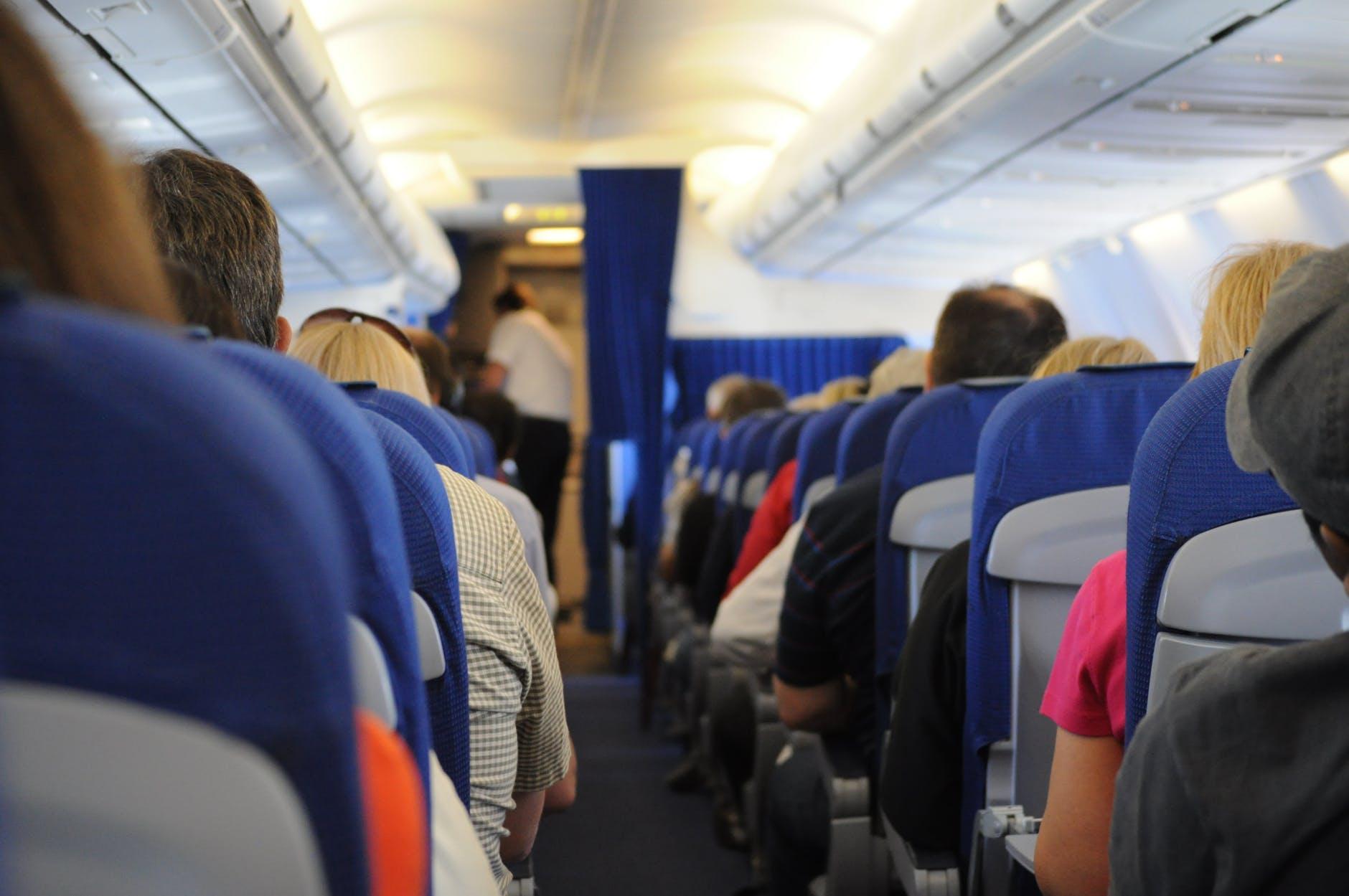 plane, aisle