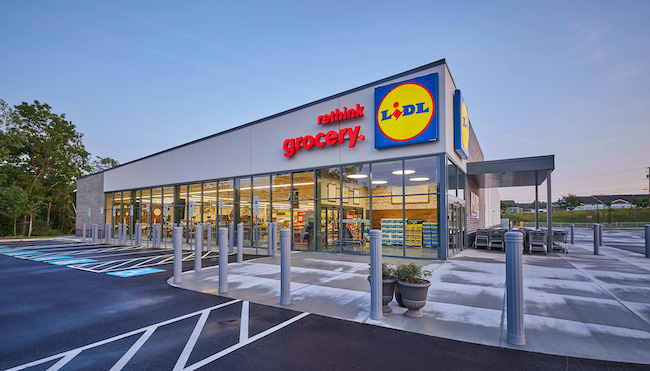 file of Lidl store