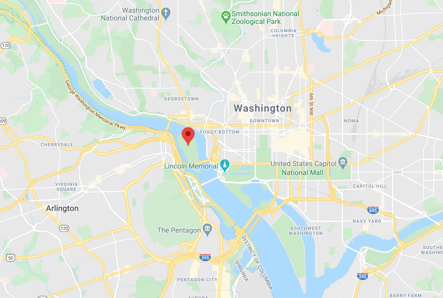 map of D.C.