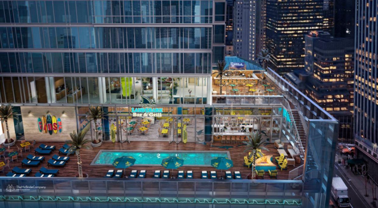 bar on NYC high-rise