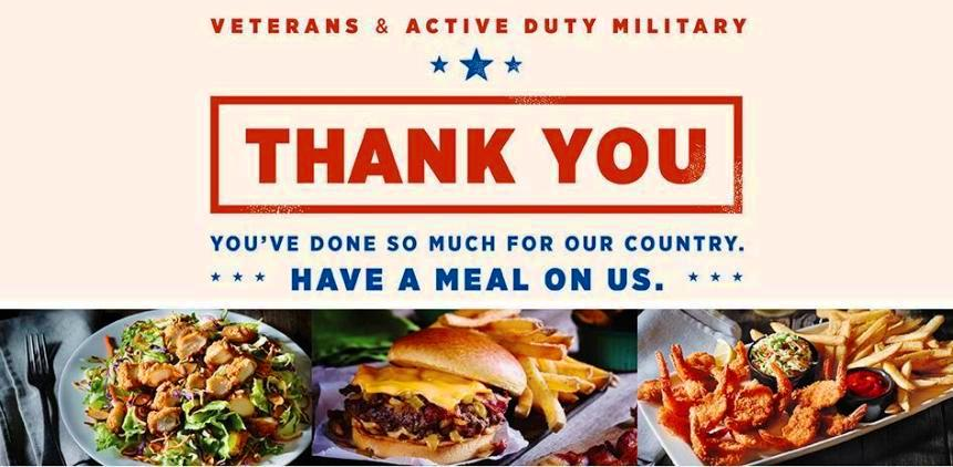 Applebee's Veterans Day 2019 Restaurant Specials