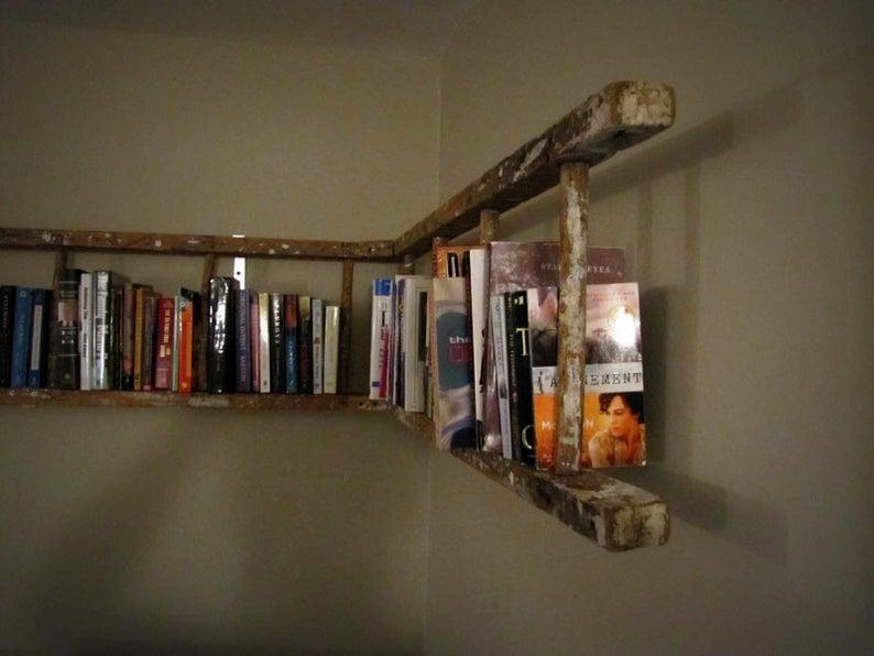 antique ladder bookshelf