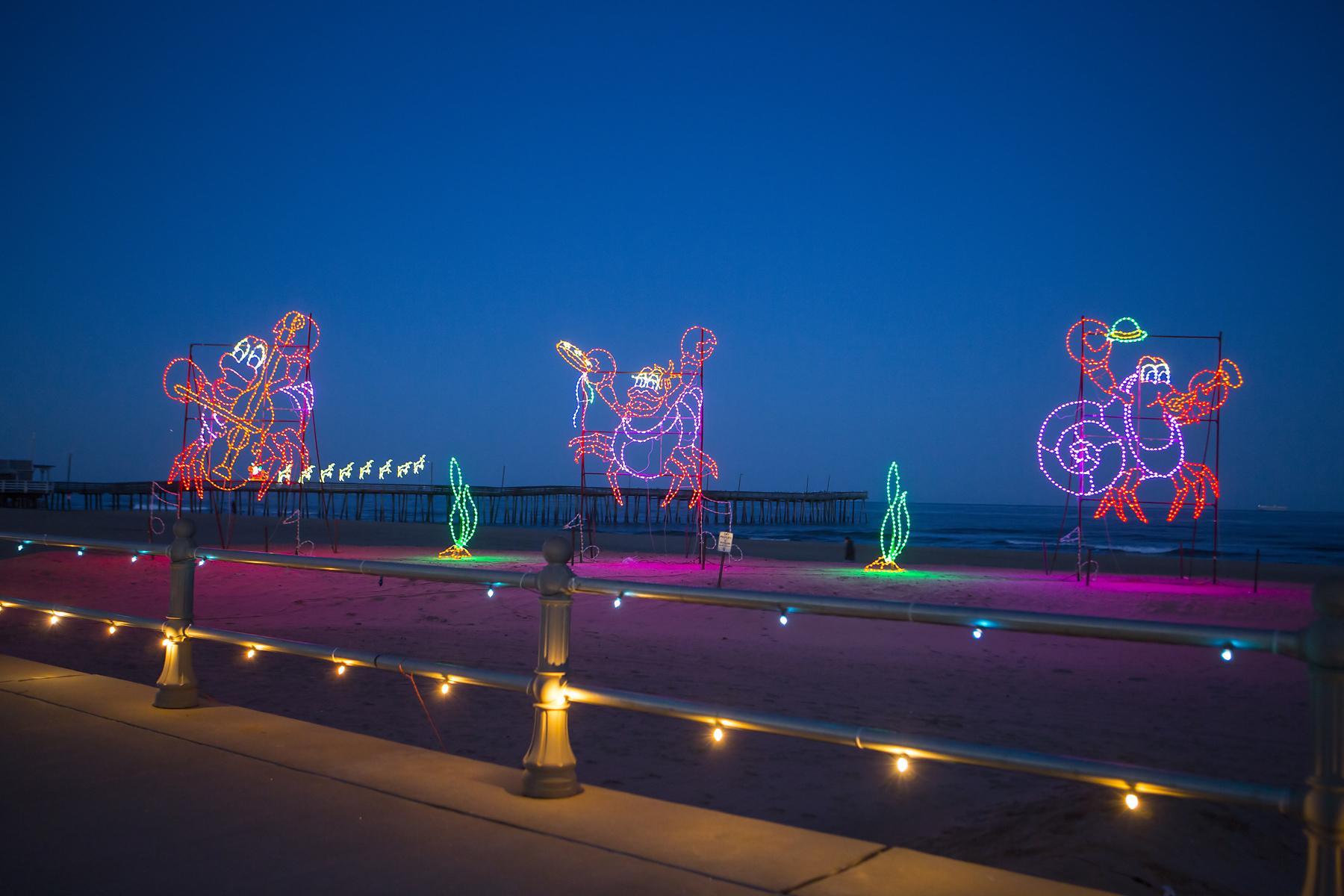 lights on the boardwalk